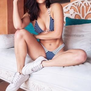 Stripe Triangle Style Bikini Set